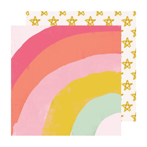 Maggie Holmes Sweet Story Patterned Paper Sheet - Parfait