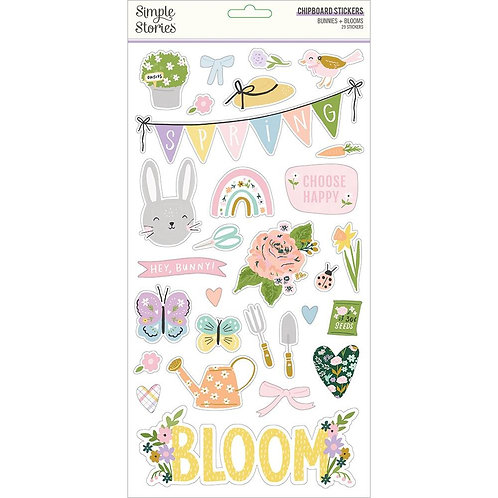 Simple Stories Bunnies and Blooms Chipboard Stickers