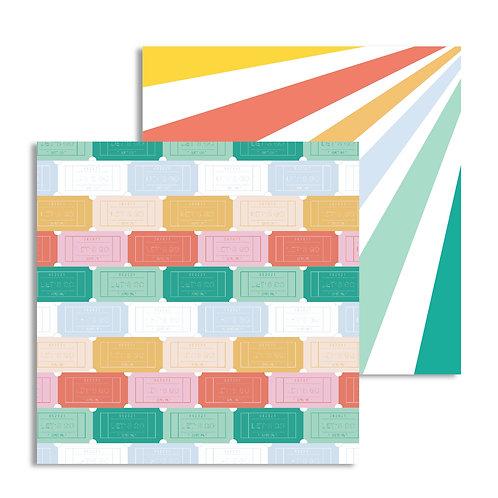 Tickets custom patterned paper sheet