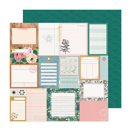 Crate Paper Marigold Remember When Patterned Paper Sheet
