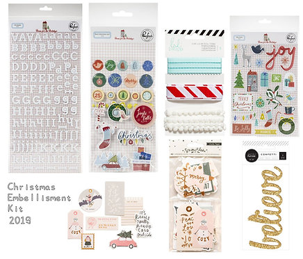 Christmas Edition 2019 Quirky Kit Embellishments Kit