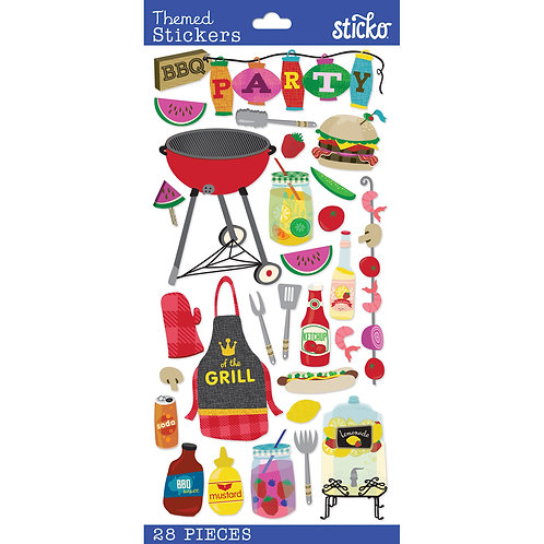 Summer BBQ stickers by Sticko