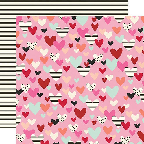 Simple Stories Sweet Talk - All of my Heart paper sheet
