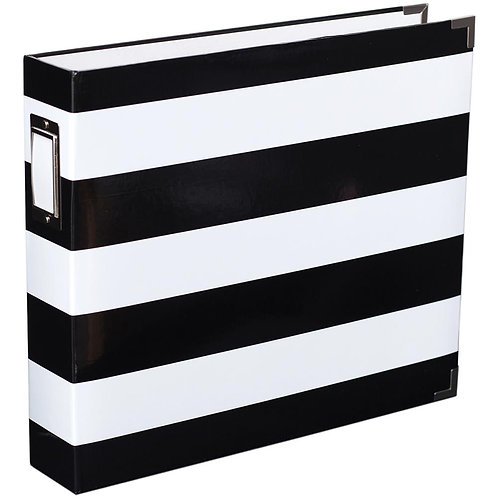 12x12 D-ring Binder Album - Black & White Stripe