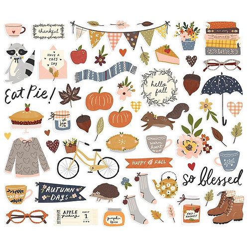 Simple Stories Cozy Days Bits n Pieces Ephemera Pack