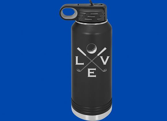 32 oz Love Golf Water Bottle