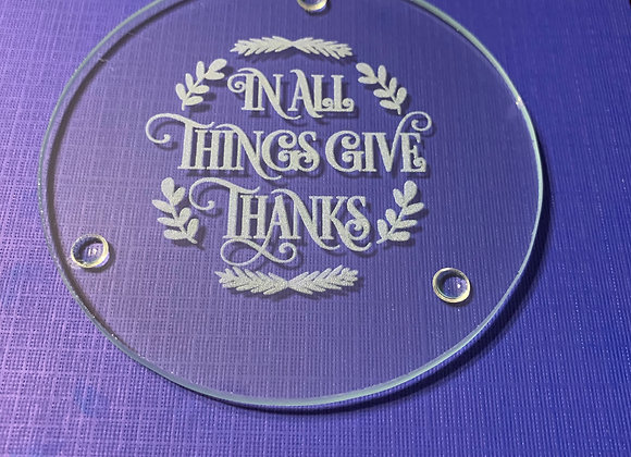 In All Things Give Thanks Coaster Set