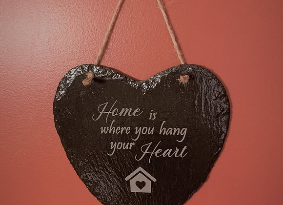 Home is where you hang your Heart sign