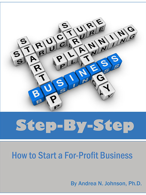Step by Step: How to Start a For-Profit Business (E-book)