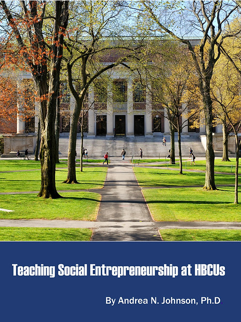 Teaching Social Entrepreneurship at HBCUs (E-book)