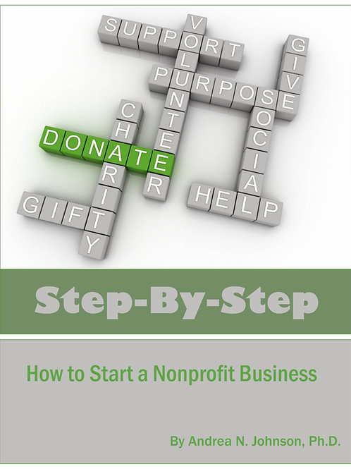 Step by Step: How to Start a Nonprofit Business (E-book)