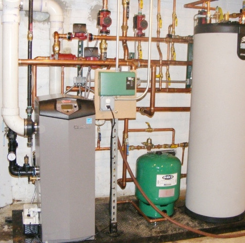 High Efficiency Hot Water Heating System