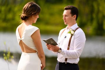 Elopement Vows at Reflection Lake