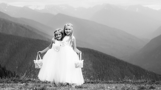 Cute flower girls at Hurricane Ridge