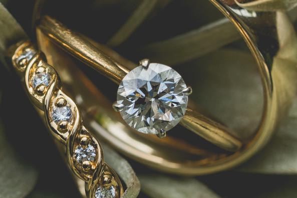 Wedding ring macro shot
