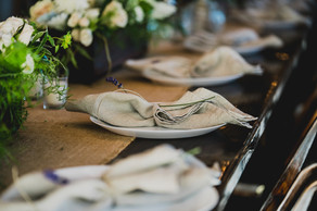 Stationary at wedding reception