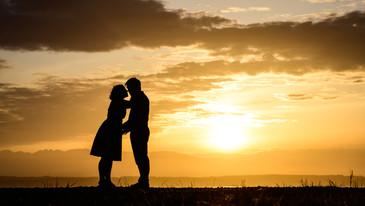 Sunset engagement photo shoot