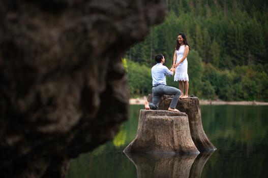 Rattlesnake Lake Seattle Engagement Photography
