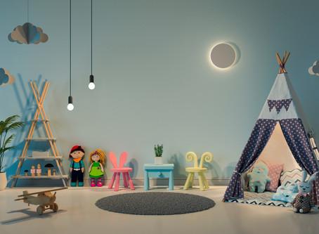 Tips para iluminar espacios interiores para niños.