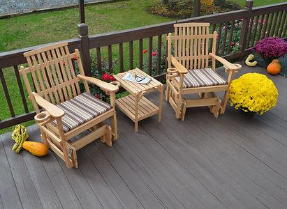 Item 6171 Bent Oak Glider Chairs w Item