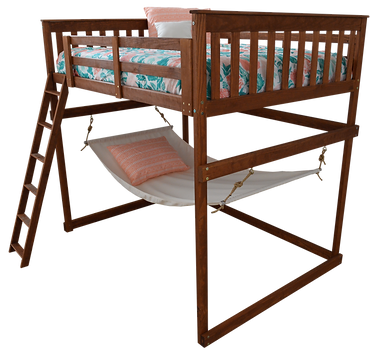 Item 3310 Full Mission Loft Bed w Side L
