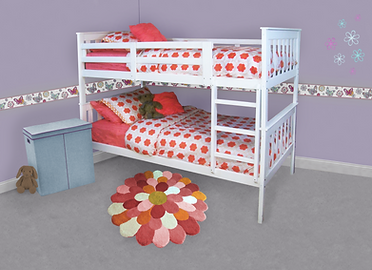 Staged 3140 Twin Bunk _ White _ Girls ro