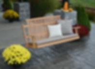 Item 6051 5' Bent Oak Porch Swing   - Na