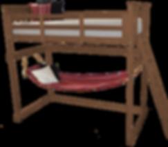 Item 3320 Twin Mission Loft Bed w End La