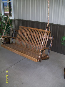 Item 2052 5ft Hickory Porch Swing with W