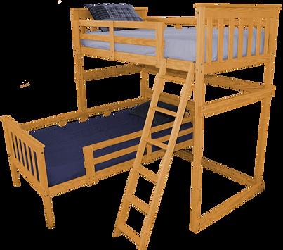 Item 3300 Twin Mission Loft Bed w Side L