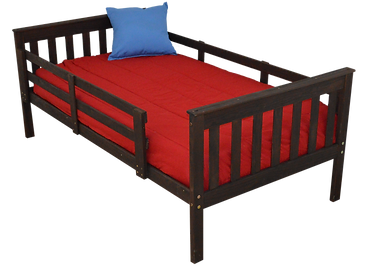 Item 3120 Twin Mission Bed w Safety Rail