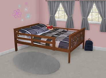 Item 3130 Full Mission Bed w Safety Rail