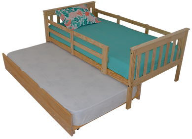 Item 3120 Twin  Bed w Safety Rails & Ite