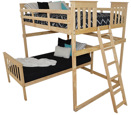 Item 3330 Full Mission Loft Bed w End La