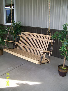 Item 2051 5ft Hickory Porch Swing with N