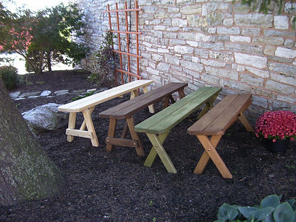 Pressure Treated Benches in Unfinished,