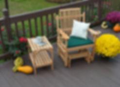 Item 6171 Bent Oak Glider Chair w Item 6