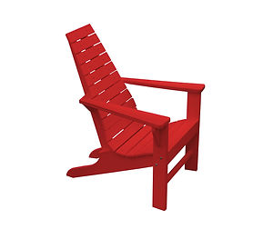 Item 894 Poly New Hope Chair- Bright Red