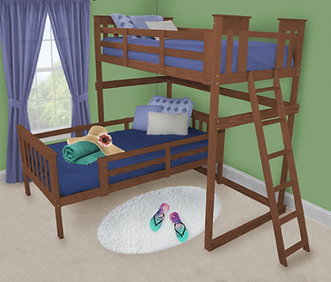Item 3320 Twin Mission Loft Bed w End La
