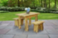 Item 8240L 4ft Autumnwood Table w Items