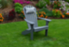 Item 880 Fanback Adirondack Chair - Dark