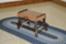 Item 2112 Hickory Foot Stool - Walnut Fi