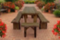 Item 8280L 8ft Autumnwood Table w Items