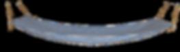 Item  1071  Full  Hammock - Blue Stripe