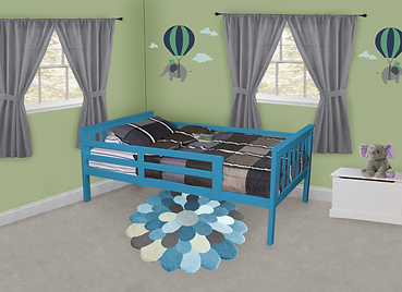 Item 3120 Twin Mission Bed with Safety R