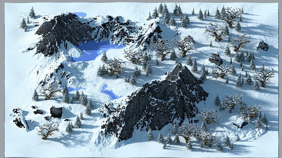 1k x 1k Snow Terrain