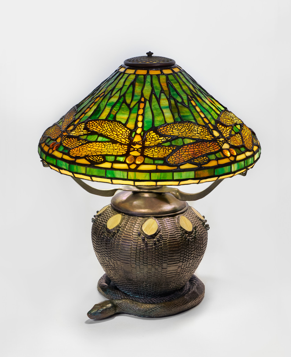 """Green Dragonfly"" Table Lamp"