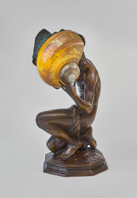 """""""Young Fisher Boy"""" Sculpture Lamp"""