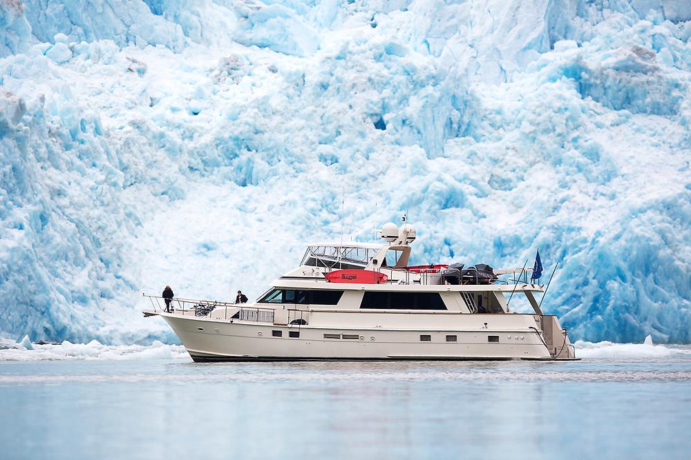 Sawyer Glacier yacht cruise