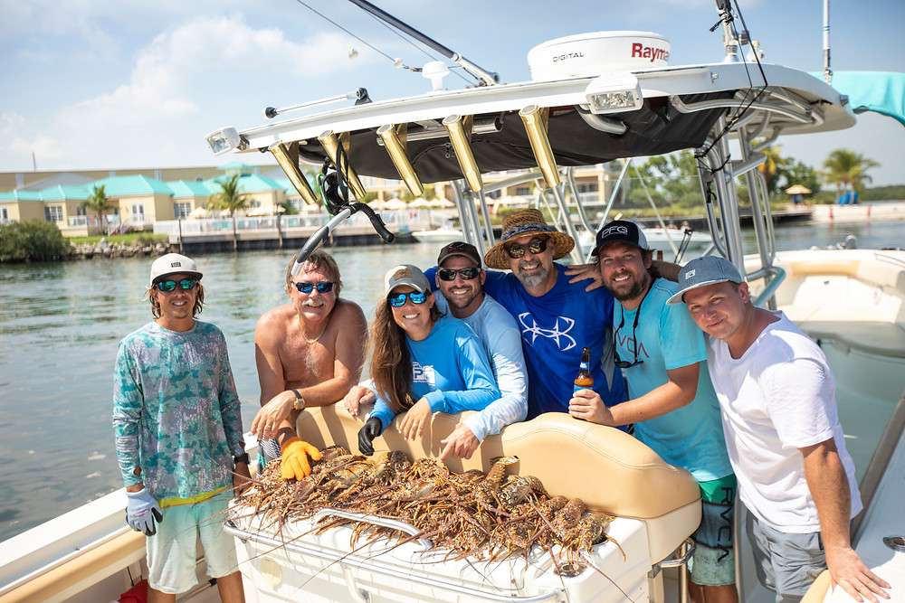 Lobstering in Key West